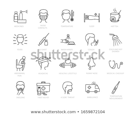 Groß Spritze Symbol Vektor Gliederung Illustration Stock foto © pikepicture