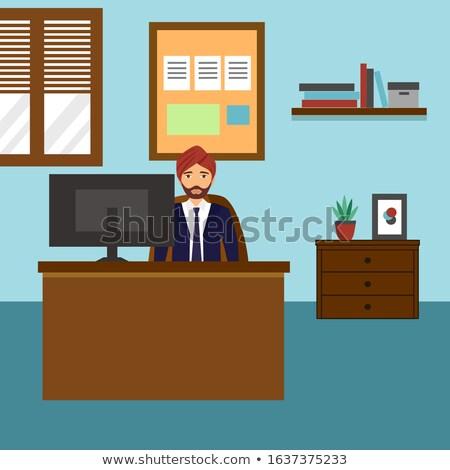 бизнеса Индия сотрудник Boss работодатель вектора Сток-фото © robuart