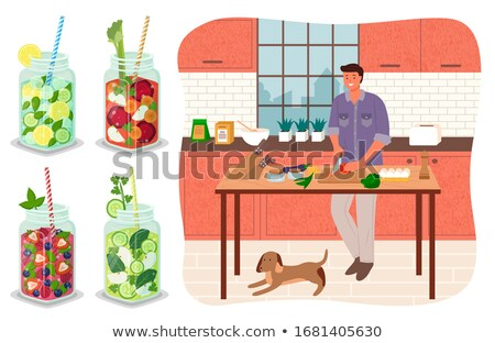 Kawaler napojów kuchnia wektora Zdjęcia stock © robuart