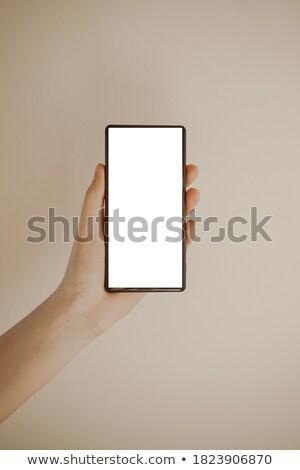 Mão humana eletrônico comércio aplicação Foto stock © karetniy