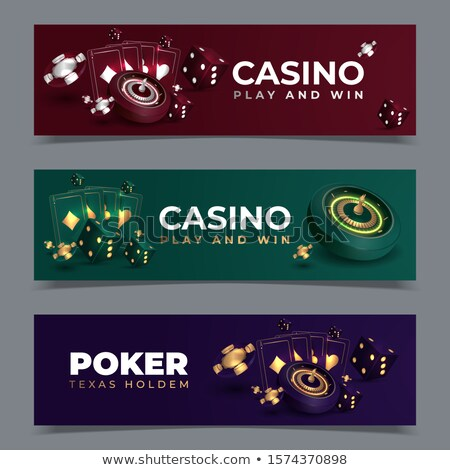 Casino Element, Roulette and Jackpot, Coins Vector Stock photo © robuart