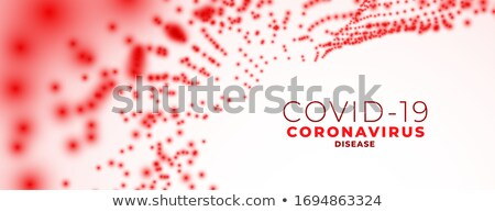Coronavírus bandeira vermelho célula partículas saúde Foto stock © SArts