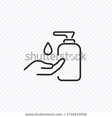 стороны женщину песок рук бутылку пальца Сток-фото © gemphoto