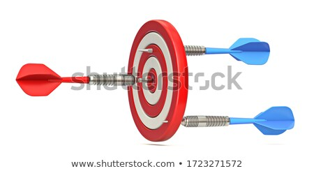Dart target contrario 3D rendering 3d illustrazione Foto d'archivio © djmilic