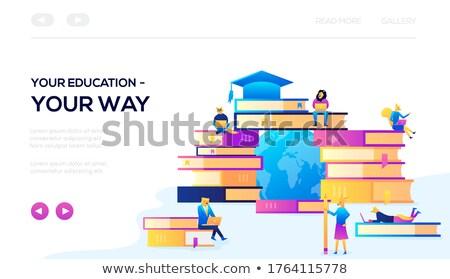 Educativo traiettoria atterraggio pagina obiettivo raggiungimento Foto d'archivio © RAStudio