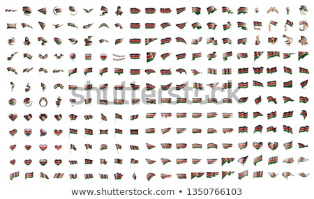 very big collection of vector flags of the Kenya Stock photo © butenkow