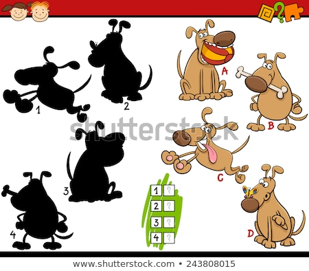 Vector illustration of educational shadow matching game with cartoon bird Stock photo © natali_brill