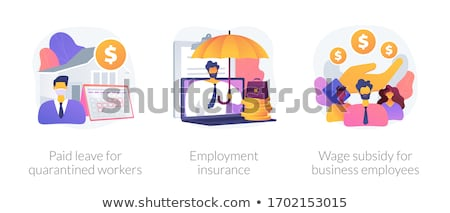 Wage subsidy for business employees abstract concept vector illustration. Stock photo © RAStudio