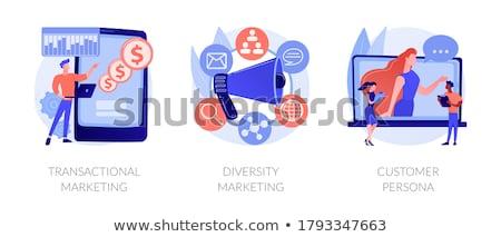 Diversidade marketing abstrato estratégia de marketing publicidade diferente Foto stock © RAStudio