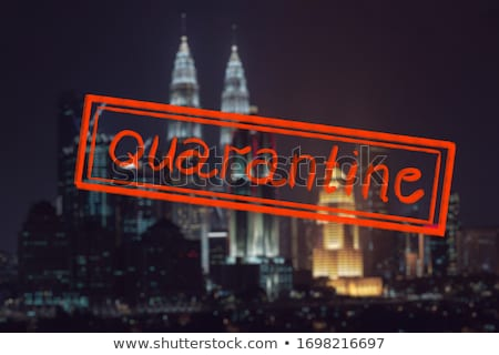 Quarantine due to coronavirus epidemic covid19 мKuala lumpur skyline at night, Malaysia, Kuala lumpu Stock photo © galitskaya
