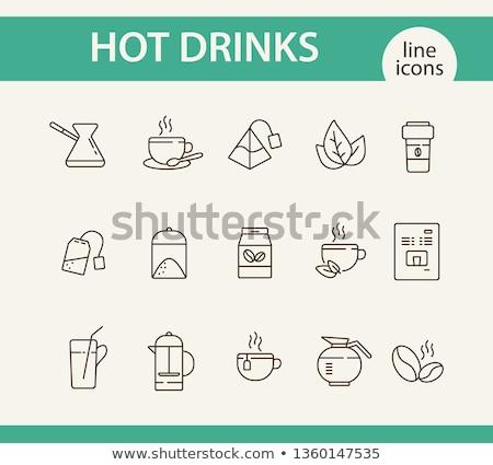 Tea, green leaf and glass coffee jar stock photo © Ansonstock