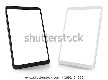 Mobile Smartphone modernen Handy Symbole schwarz Stock foto © pkdinkar