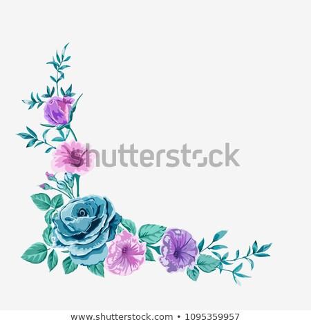 virágmintás · elemek · vízszintes · tavasz · terv · háttér - stock fotó © tottoro