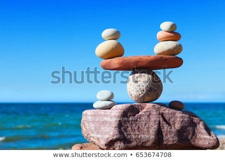 сбалансированный пород духовных пляж побережье Сток-фото © morrbyte