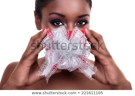 femme · Nice · présents · étonné · blanche - photo stock © feedough
