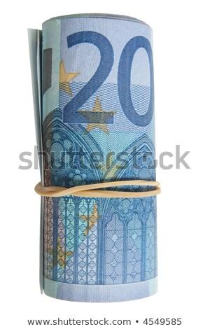 rouler · 10 · euros · note · élastique · bande - photo stock © latent