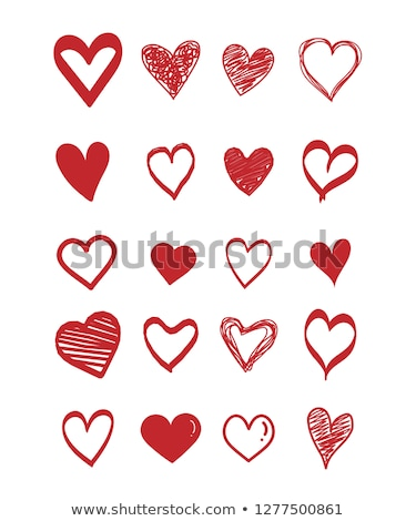 Valentine's colorful card, scribble heart Stock photo © marimorena