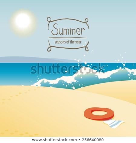 lifebuoy in sand dunes  Stock photo © morrbyte