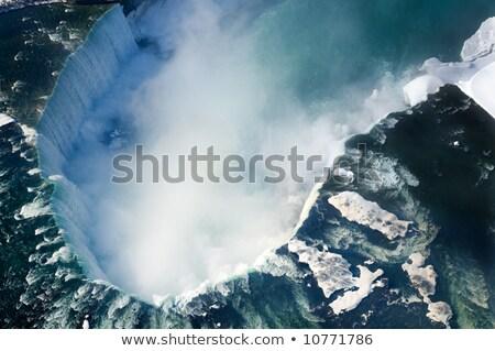 Foto d'archivio: A · ferro · di · cavallo · sopra · inverno · Cascate · del · Niagara · neve · bellezza