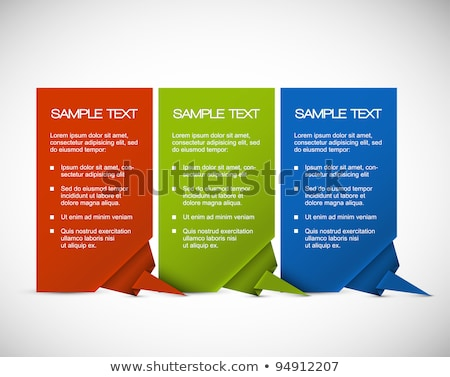 Set of Vector paper cards with origami corner stock photo © orson