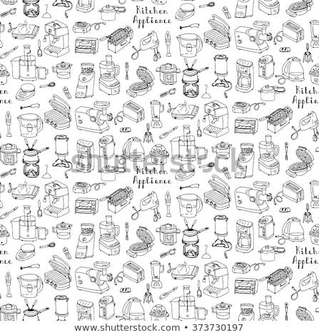 Cartoons Home Appliences Coffee Maker Stock photo © RAStudio