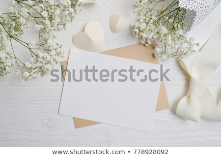 White flowers with message-card Stock photo © boroda