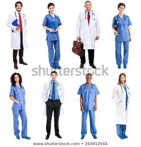 senior · donna · medico · appunti · ospedale · medicina - foto d'archivio © stockyimages