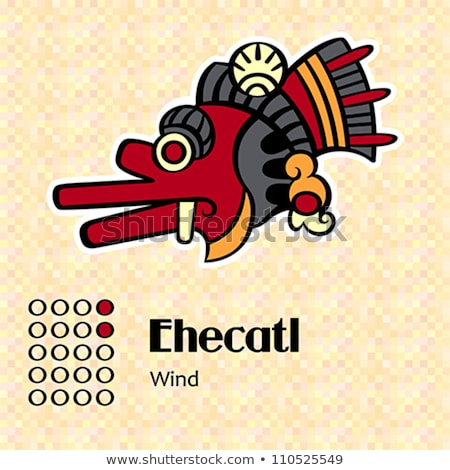 Aztec symbol Ehecatl Stock photo © sahua