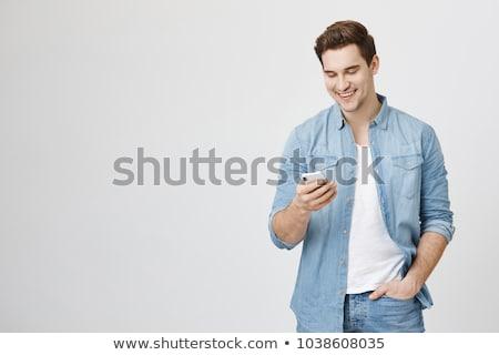 Interessante telefone conversa bastante mulher Foto stock © lisafx