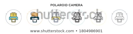 Kutuplayıcı kamera siyah renkli bağbozumu Stok fotoğraf © tdoes