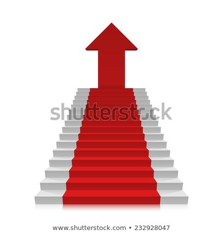 красный ковер стрелка дизайна знак синий Финансы Сток-фото © fixer00