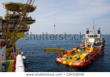 Ellátás csónak offshore vágány tenger piros Stock fotó © ribeiroantonio