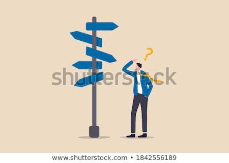 Indicazioni confusione dilemma strategico Foto d'archivio © Lightsource