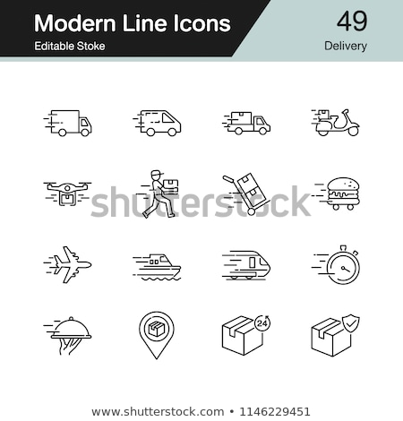Vector icon post deliver car Stock photo © zzve