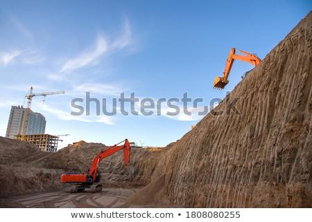 Büyük buldozer Almanya inşaat çalışmak Stok fotoğraf © photochecker