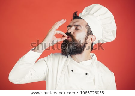Happy male chef grsturing ok Stock photo © wavebreak_media