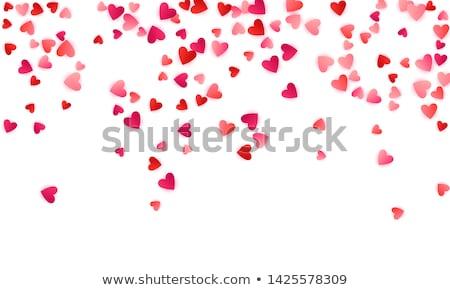 Rubin szív szeretet háttér ajándék kártya Stock fotó © carodi