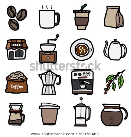 Coffee blending machine tool isolated on white background  Stock photo © JohnKasawa