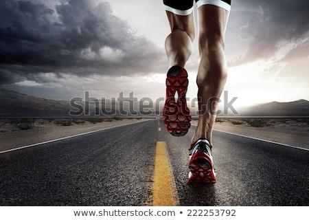 Futó láb fut út közelkép cipők Stock fotó © dashapetrenko