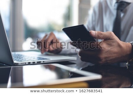 mobile phone and digital tablet pc stock photo © daboost