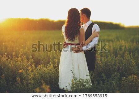 mooie · mooie · bruid · luxueus · bruiloft · moderne - stockfoto © ifeelstock
