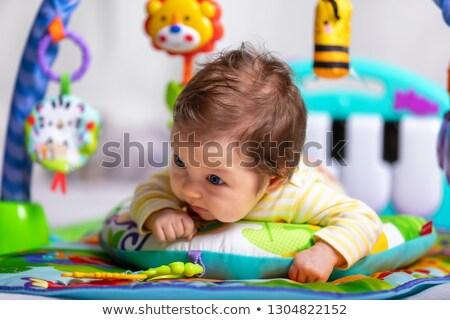 Baby uśmiechnięty biały oka szczęśliwy Zdjęcia stock © sdenness