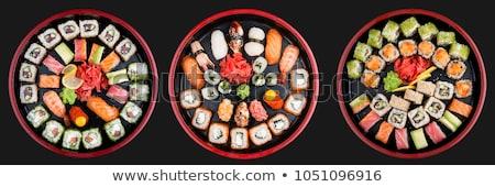 sushi · salmone · avocado · riso · alghe · servito - foto d'archivio © len44ik