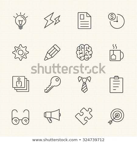 Vector icon note and pencil case Stock photo © zzve