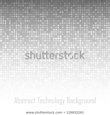 Stock photo: Abstract Vector Background. Web Pattern with Grey Spheres