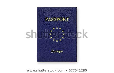 Europeo pasaporte rojo madera oficina aeropuerto Foto stock © kbuntu