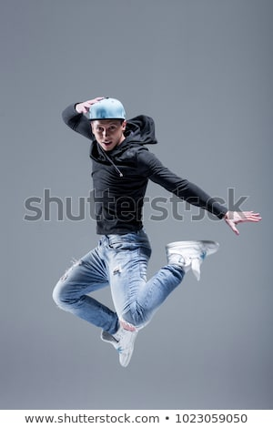 Modern man dancer posing Stock photo © stepstock