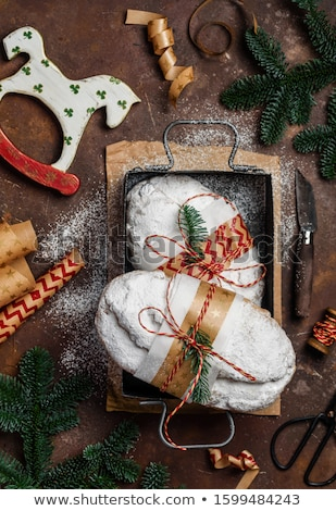christmas · peperkoek · cookies · wijn · drinken · bal - stockfoto © rob_stark