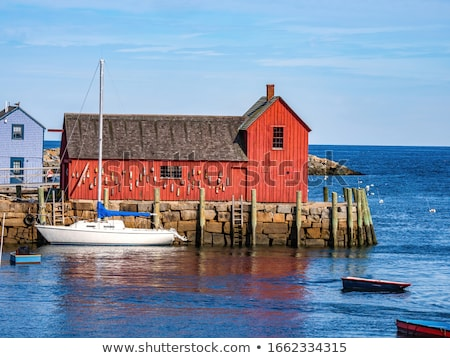 Shack and Blue Water Stock photo © jkraft5