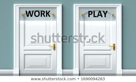 Werk spelen tegenover borden twee blauwe hemel Stockfoto © stevanovicigor